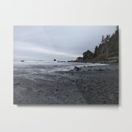 I Actually Like Those Rocks Moving With The Water Metal Print
