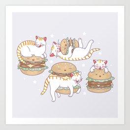 Cat burgers Art Print