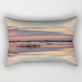 Sunrise over Biebrza river in Poland Rectangular Pillow
