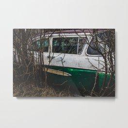 Car Graveyard 3 Metal Print