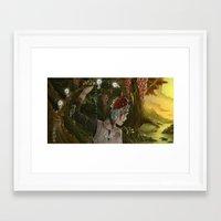 princess mononoke Framed Art Prints featuring mononoke by Devon Busby Busbyart