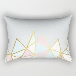 Gold & Pastel Geometric Pattern Rectangular Pillow