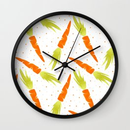 Watercolor carrot Wall Clock