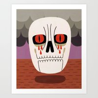 fear Art Prints featuring Fear by Jack Teagle