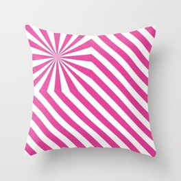 Stripes explosion - Pink Throw Pillow