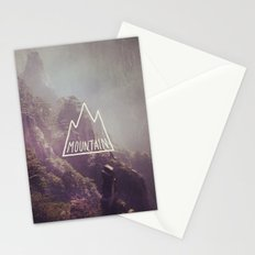 Mountain Lettering Stationery Cards