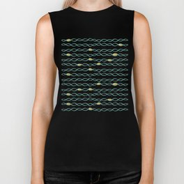 Baesic Golden Mermaid Chain Biker Tank
