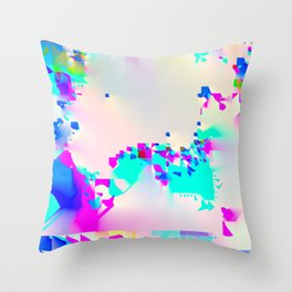 soft glitch Throw Pillow