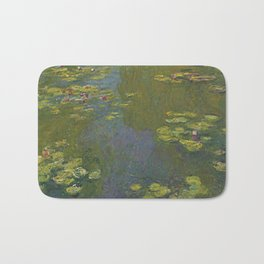Claude Monet - Water Lily Pond 1919 Bath Mat