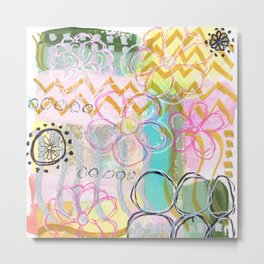 Flowers and Circles and Lines, Oh My! Metal Print