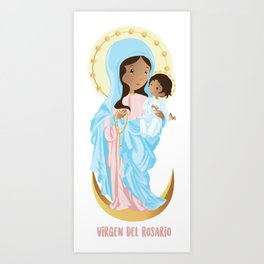 Our lady of the Rosary Art Print