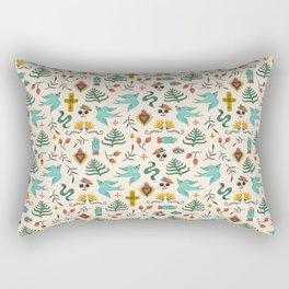Mexican Folk Art Rectangular Pillow