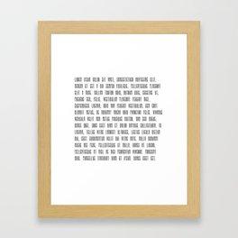 Lorem ipsum dolor sit met quote Framed Art Print