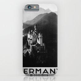 retro noir Germany poster iPhone Case