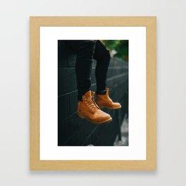 The Hiker (Color) Framed Art Print