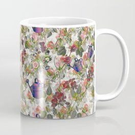 Floral with Watering Can Coffee Mug