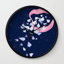 Your words are diamonds Wall Clock