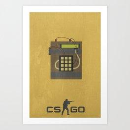 Counter Strike Minimalist Poster Art Print