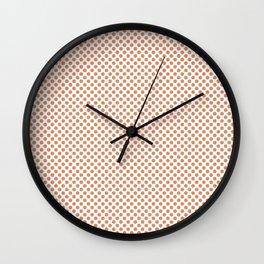 Copper Tan Polka Dots Wall Clock