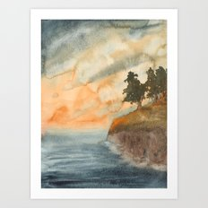 Forest by the Sea Art Print