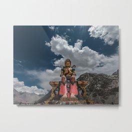 Monastery in Ladakh Metal Print