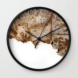 Weathering Oklahoma Wall Clock