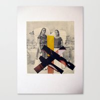 sisters Canvas Prints featuring Sisters by Mimi Rico