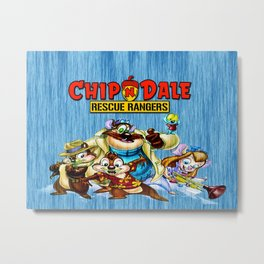 Chip and Dale Team Metal Print