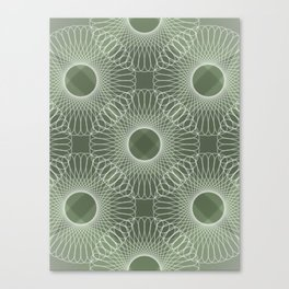 Circled in Shades of Emerald Green Canvas Print
