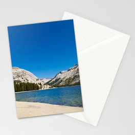 Landscape of a lake with mountains in CA. Stationery Cards