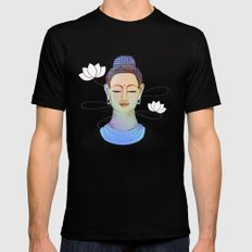 Buddha Black Mens Fitted Tee X-LARGE