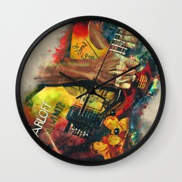 Kirk Hammett's Mummy Guitar Wall Clock