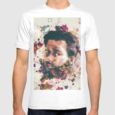a beard of flowers Mens Fitted Tee MEDIUM White
