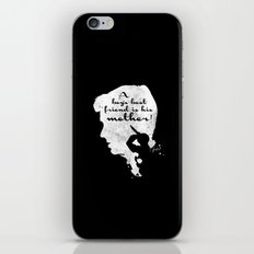 Boy's best friend – Norman Bates Psycho Silhouette Quote iPhone & iPod Skin