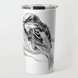Sparrow Bird Snoozing Travel Mug