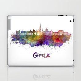 Graz skyline in watercolor Laptop & iPad Skin