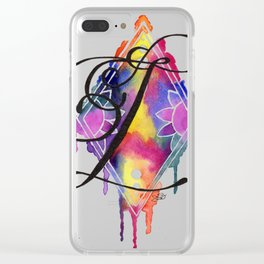 Calligraphy Capital Initial L Clear iPhone Case