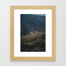 Sheep Walk Framed Art Print