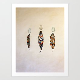 Medicine Feathers Art Print