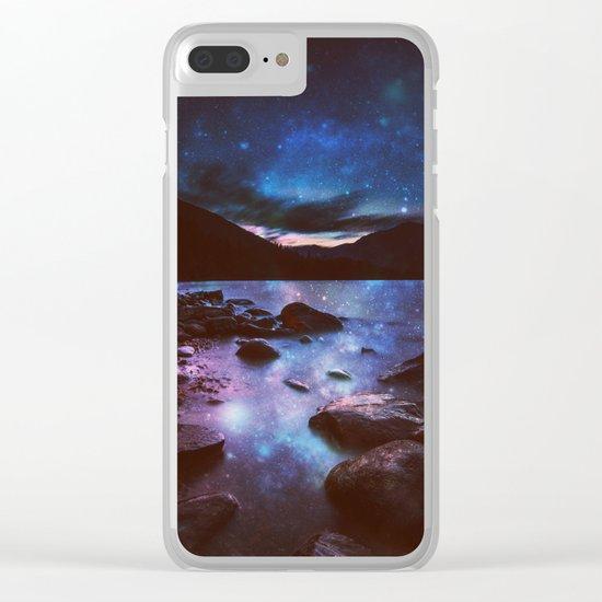 Magical Mountain Lake Deep Cool Tone Clear iPhone Case