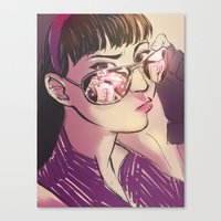 kate bishop Canvas Prints featuring Kate Bishop  by S8ANS