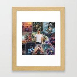 jon bellion best tour 2019 2020 simukasama Framed Art Print