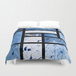 Movin with Pollock, Mondrian & Haring  Duvet Cover