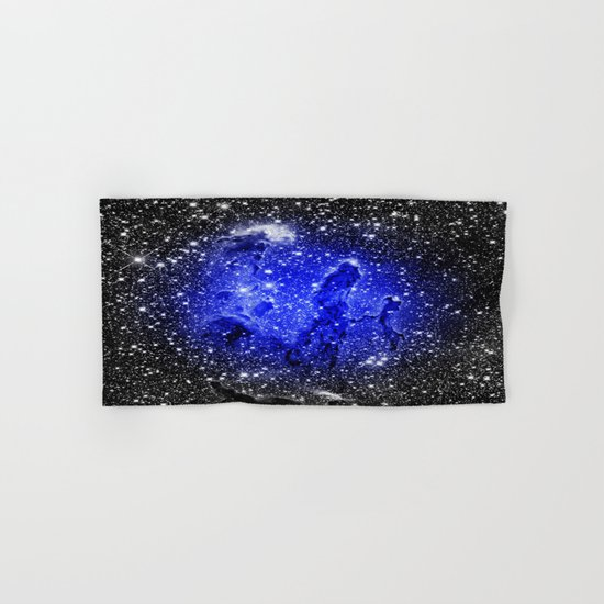 Galaxy : Pillars of Creation Blue Hand & Bath Towel