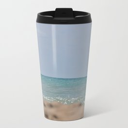 Water and Sand Metal Travel Mug