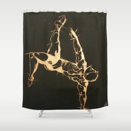 Reaching Potential Shower Curtain