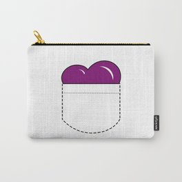 Close to my Heart, Pocket Love - Purple Carry-All Pouch