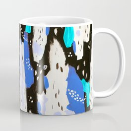 Spotted Abstract in Neon Blue Coffee Mug