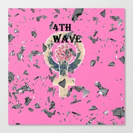 4th  Wave Feminism -Shattered Canvas Print