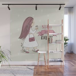 Start with Coffee Wall Mural